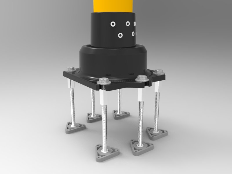 Type 2.5 Bollard with PT Anchors