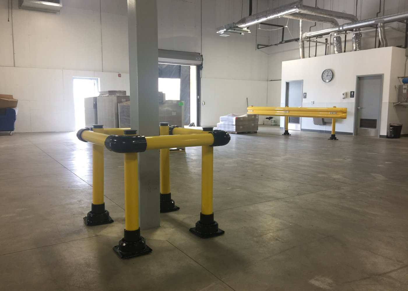 Column Protector and SlowStop FlexRail