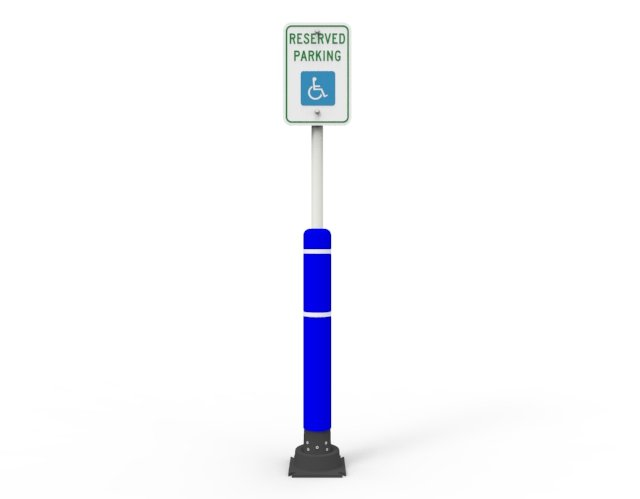 Slowstop Bollard Sign Post with Cover